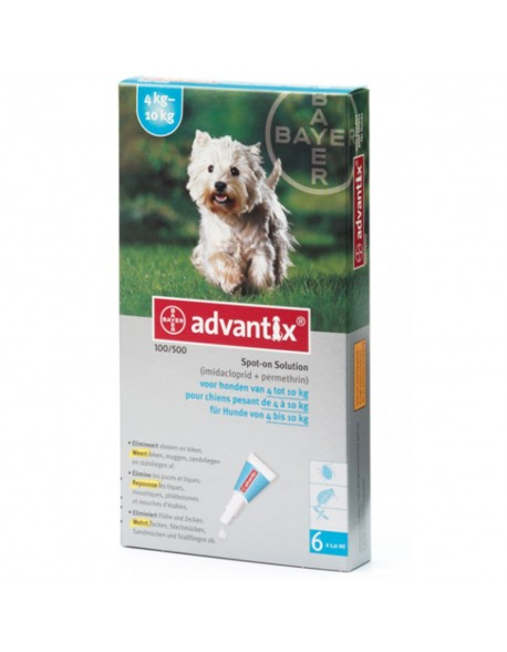 Advantix 100 Caini de 4-10 kg - 1 Pipeta