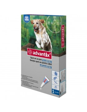 Advantix 400 caini de 25-40 kg 1 pipeta