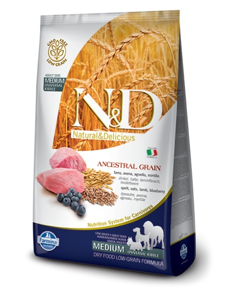 Farmina N&D Adult Medium Low Grain cu Miel si Afine 12kg