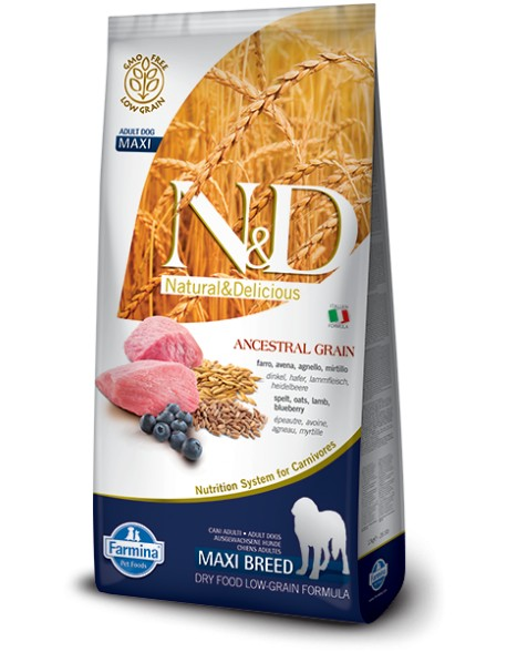 Farmina N&D Adult Maxi Low Grain cu Miel si Afine 12kg