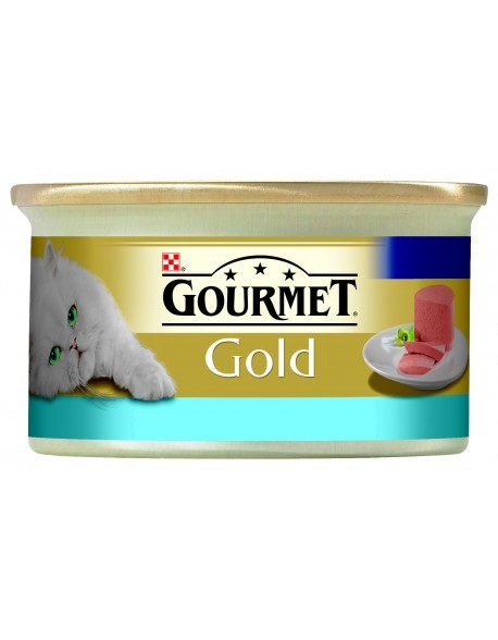 Gourmet Gold Mousse Cat cu Ton 85gr