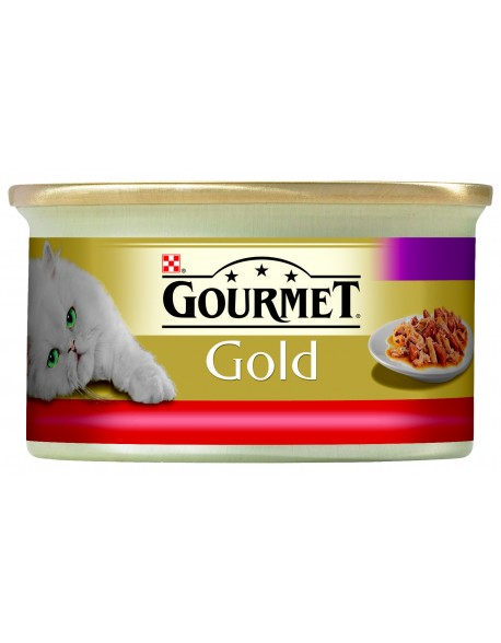 Gourmet Gold Double Pleasure cu Vita si Pui 85gr