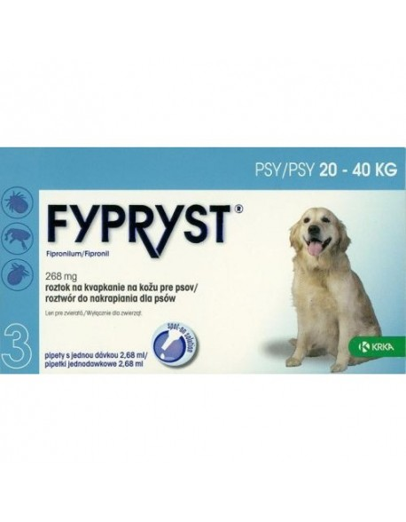 Fypryst Caine L 20 - 40kg 3 Pipete
