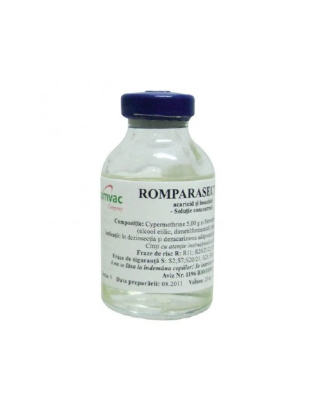 ROMPARASECT 5 % Solutie concentrata 10 ml