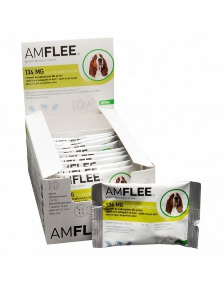 AMFLEE DOG 134 mg spot-on, M (10-20 Kg), 1 pipeta