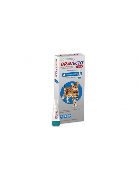 Bravecto Plus Spot On Cat 250 mg (2.8 - 6.25 kg)