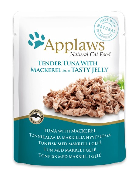 Applaws Cat Adult File de Ton si Macrou in Aspic 70g